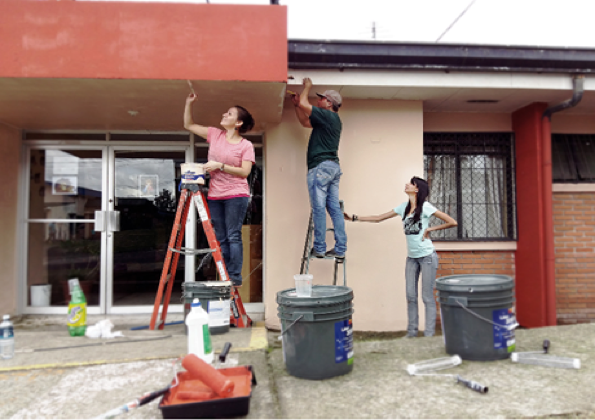 costa rica house painting party